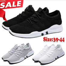 KAMUCC Spring And Summer Fashion Mens Casual Shoes Lace-Up Breathable Sneakers Trainers Zapatillas Hombre Big Sale