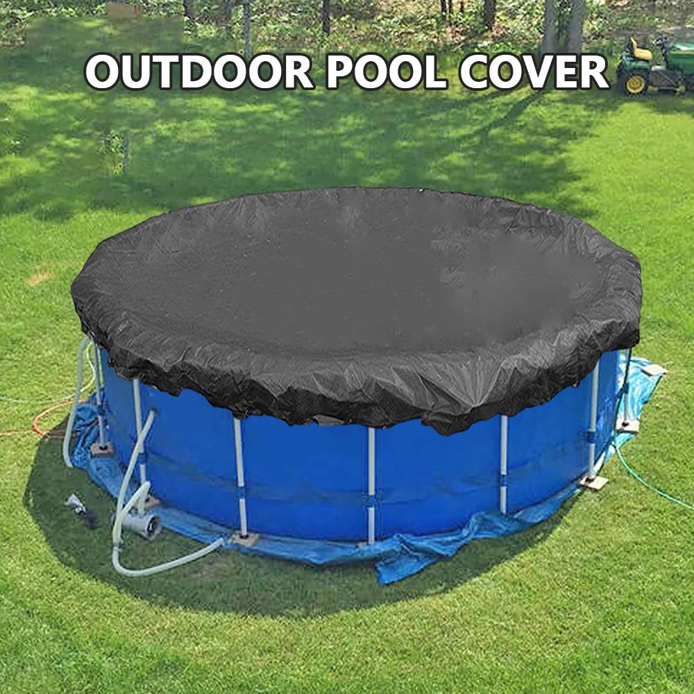 H1bc476b8b73f4709a28e002b2d2ae13fQ - Round Pool Cover Foldable Black Bathtub Cover 210D Oxford Anti-UV Protector Spa Tub Dust Waterproof Cover Swimming Accessories