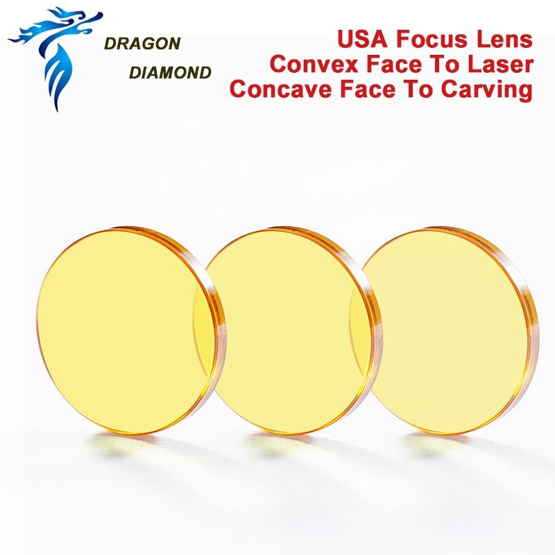 USA CVD ZnSe fókuszlencse diamm 12mm 15mm 18mm 19.05mm 20mm FL 38.1-127mm CO2 lézergravírozó vágógéphez II-VI USA tükrök