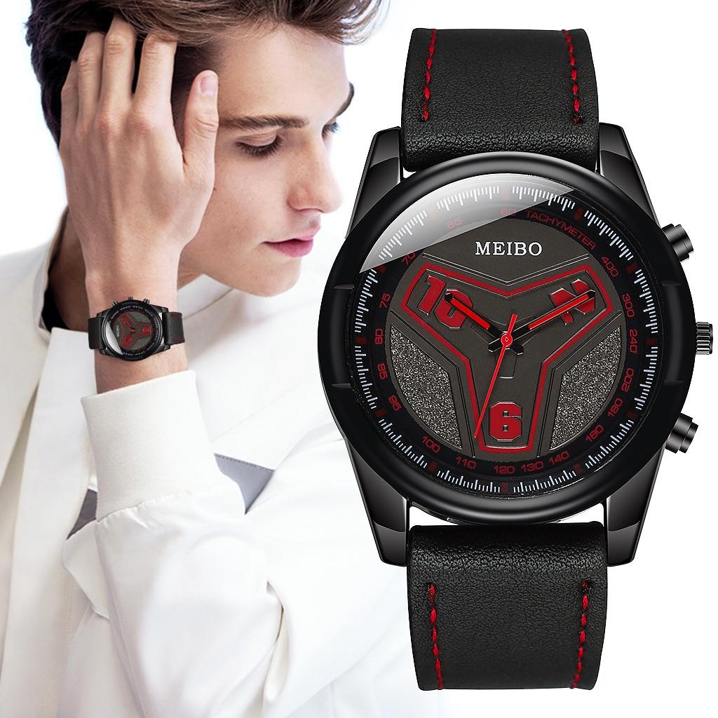 Mens Watches Top Luxury Brand Fashion Sport Men's Wrist Watch Leather Quartz Military Watch Men Compass Clock Male 2019 thumbnail