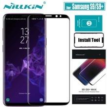 NILLKIN لسامسونج S9 plus الزجاج واقي للشاشة 3D كامل غطاء الغراء 9D حافة سلامة واقية الزجاج المقسى ل غالاكسي S9 S9 +