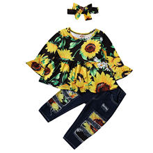 1 6years 3 предмет одежда для малышей с рисунком подсолнухов