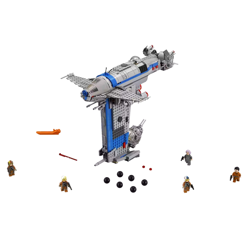 2019 The Resistance Bomber 873Pcs Star Wars Building Blocks Bricks Assemblage Toys DIY Compatible with Legoingly <font><b>75188</b></font> Technic image