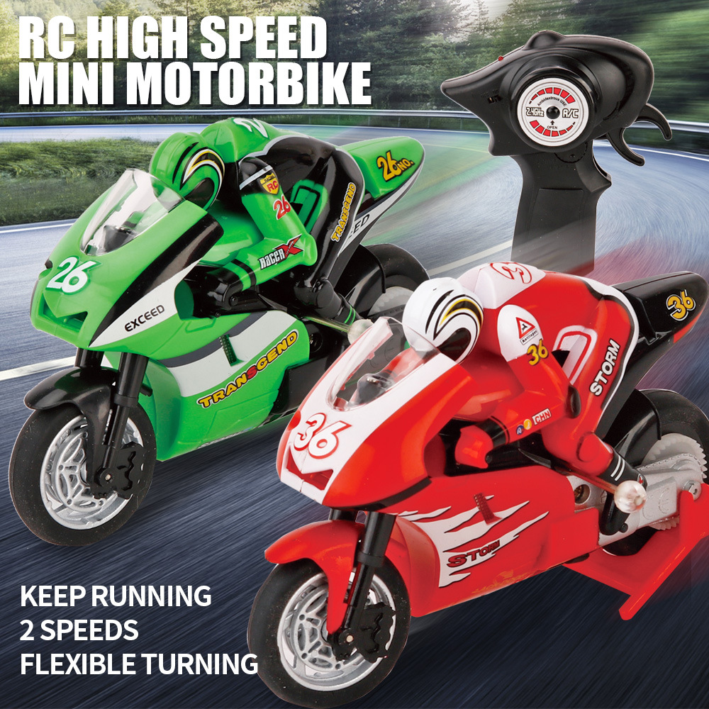 Innovation 8012 God Qiwei Mini Remote Control Motorcycle 2.4 High-Speed Race Car Model With Gyroscope Export Toy