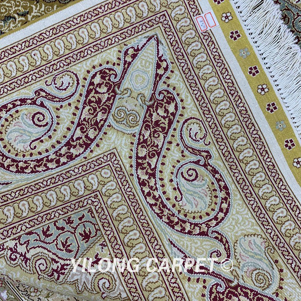 Yilong 5,5'x8 'persisk gulvtæppet rektangelgrønt tyrkisk - Hjem tekstil - Foto 6