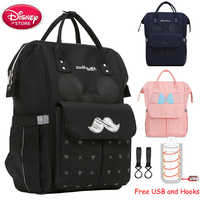 Disney Diaper Bag USB Insulation Heating Mummy Backpack Mom Baby Bag Maternity for Baby Care Travel Stroller Nappy Bag Handbag