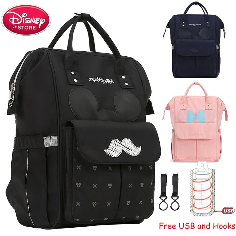 Sac à couches avec isolation USB Disney   Sac à dos chauffant pour maman bébé, sac de maternité pour bébé, soins voyage, poussette, sac à main