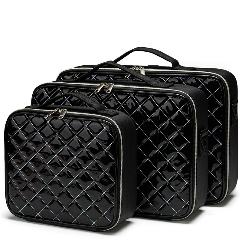New Professional Makeup Organizer Cosmetic Case Bolso Mujer Cosmetic Bag PU Large Capacity Storage Case Multilayer Suitcase
