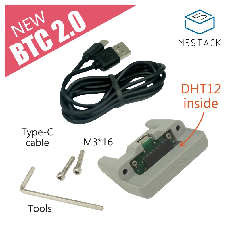 M5Stack New DHT12 Digital Humidity Temperature Sensor ESP32 For Micropython With Standing Base