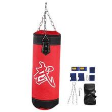 60 см тренировочный фитнес ММА боксерский мешок крючок висячий Сако де боксе бои мешок песок удар пробивая мешок песком с перчатками