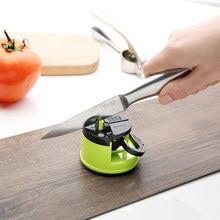 Inovador afiador de faca tesoura moedor afiar facas afiar pedra cozinha afiar ferramenta seguro sucção almofada acessórios