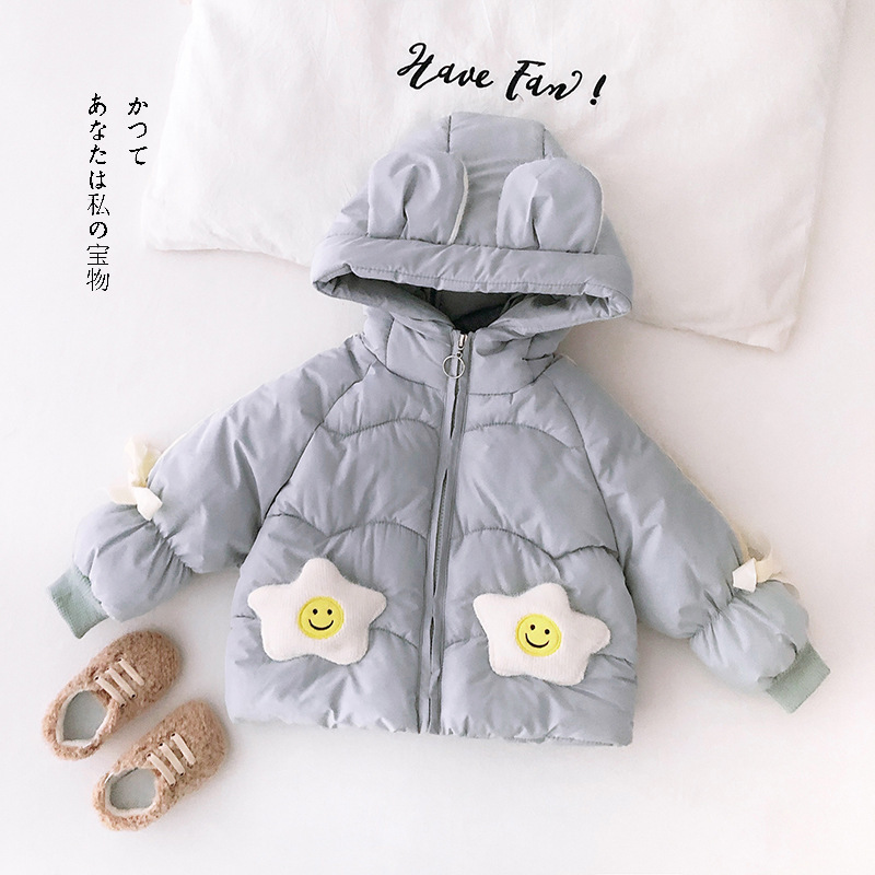 Winter Newborn Cotton Parkas Hooded Jacket For Baby Girl Warm Thick Casual Snow Wear Coat Lovely Toddler Flowers Kids Outerwear