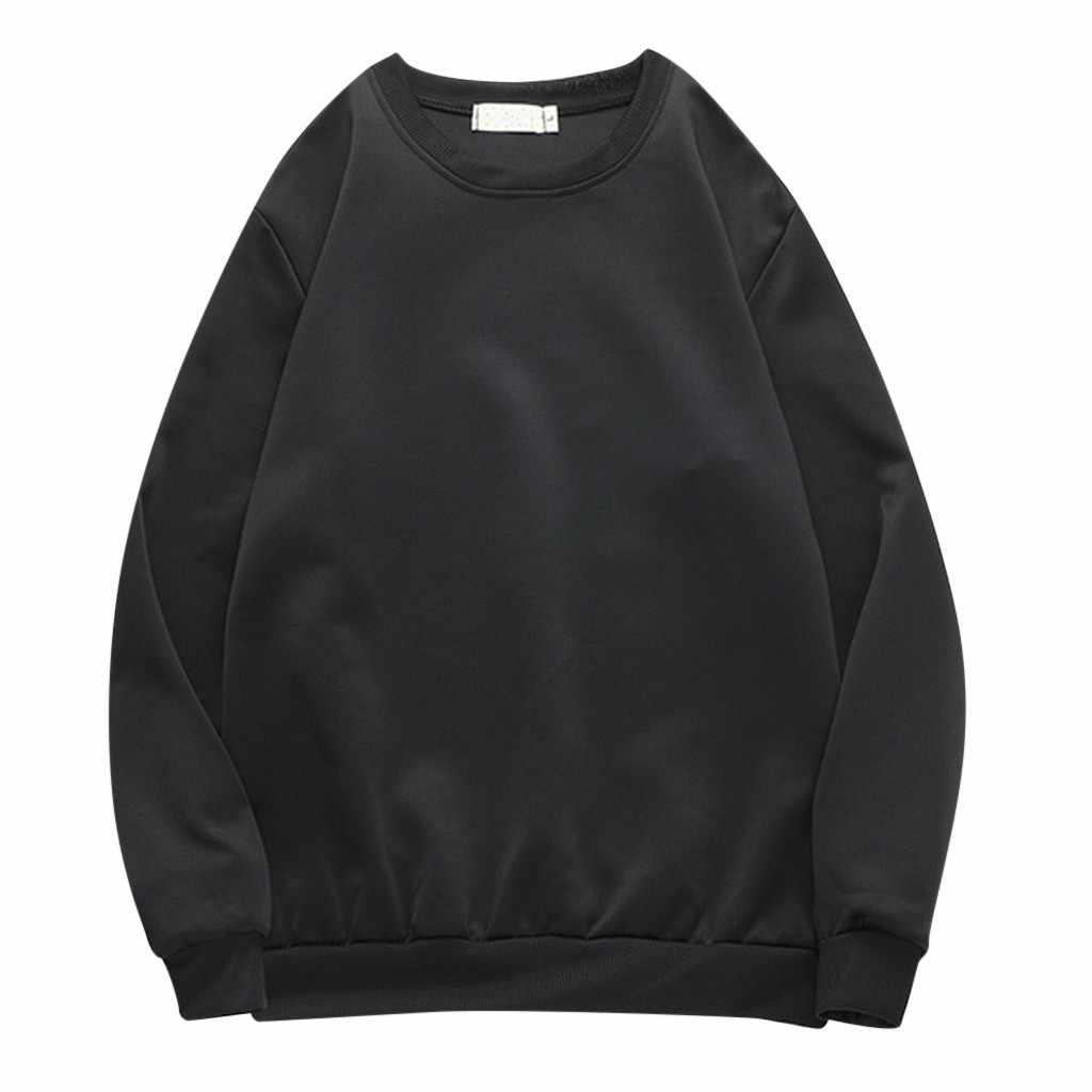 2019 hoodies men 새로운 패션 브랜드 풀 오버 솔리드 컬러 스포츠 라운드 넥 캐주얼 longtop moletom 스웨트