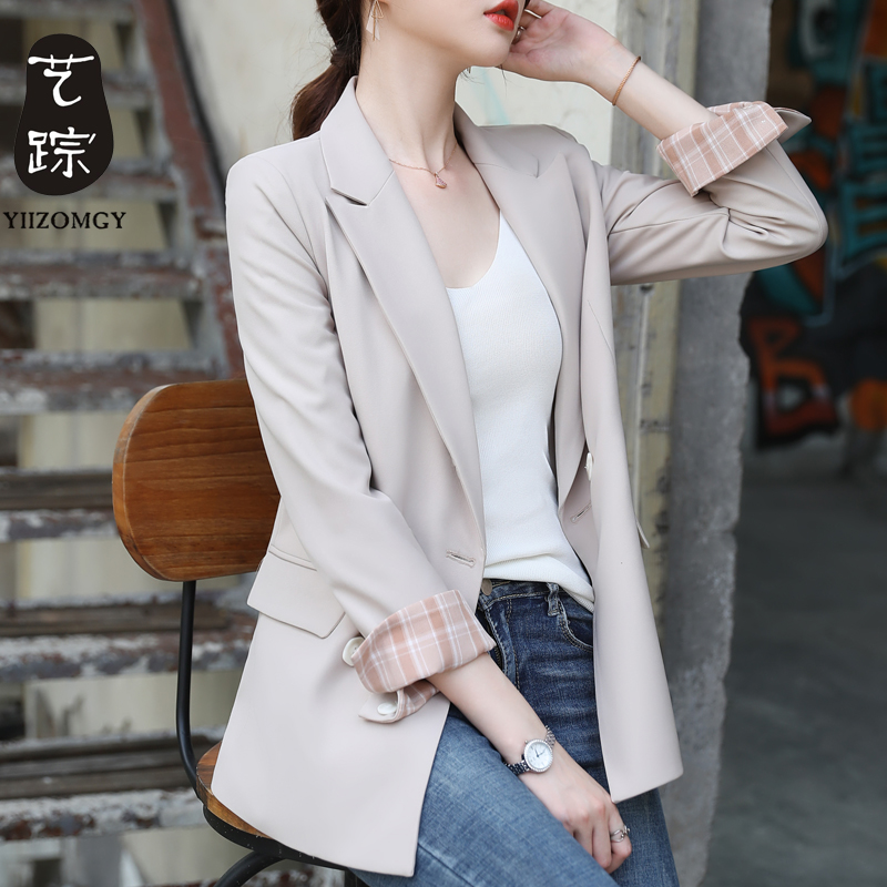 Korean Vintage Ladies Blazer Solid Pink Loose Casual Stylish Suit Jacket Bayan Mont Office Women's Clothing Large Size MM60NXZ
