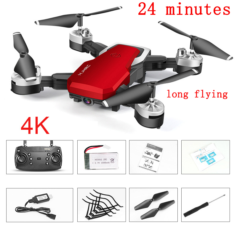 Long Range Drones 24 Minutes 4k Drones With Camera Hd Profesional Hand Gesture Drone Mini Long Flight Time Red White Rc 6ch Toy