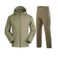 12 colori Outdoor Inverno Abbigliamento Caccia Camouflage Softshell Giacca In Pile Tattico Militare Impermeabile Con Cappuccio Cappotti e Pantaloni