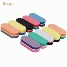 10 шт/Лот разноцветная мини пилка для ногтей