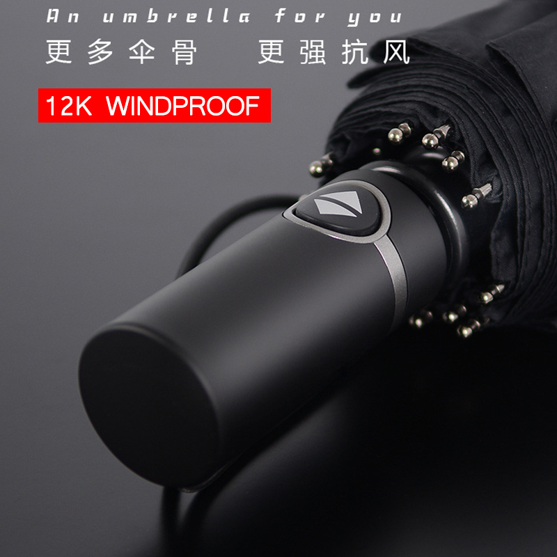 Three-folding Automatic <font><b>Umbrella</b></font> Rain Women <font><b>Golf</b></font> <font><b>Umbrellas</b></font> <font><b>Windproof</b></font> Men Gift Black Coating 12K Parasol Luxury Car Large image