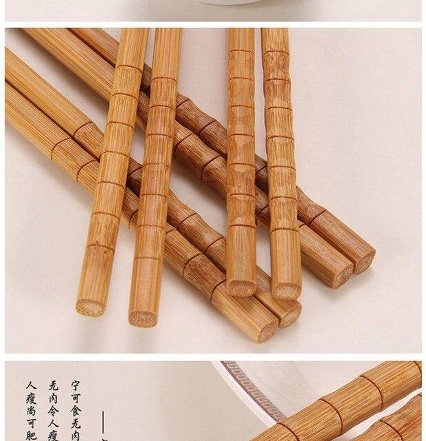 10 пар ручных палочек для еды из натурального бамбука здоровые фотография