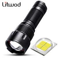 Litwod Z401006 CREE XHP70 XHP50 XM-L2 U3 XM-L T6 Puissante lampe de poche LED Torche Puissance 26650 18650 14500 AA Rechargeable batterie