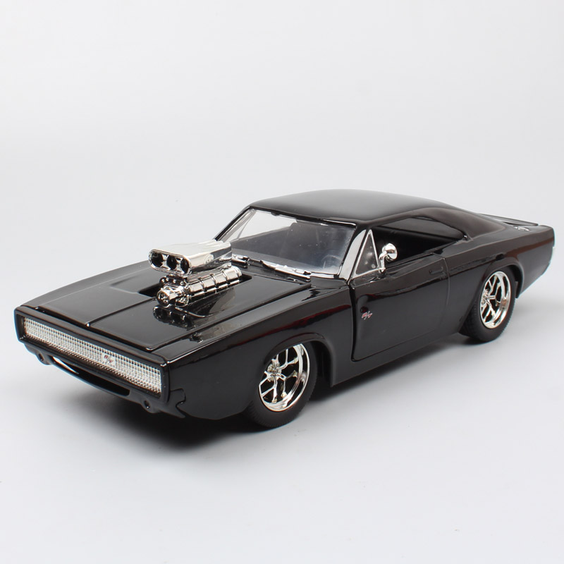 1/24 Scale Big Jada Dom Racer Street The DODGE Charger RT 1970 Diecast Vehicle Metal Car Toy Model Miniature Collectibles Gifts