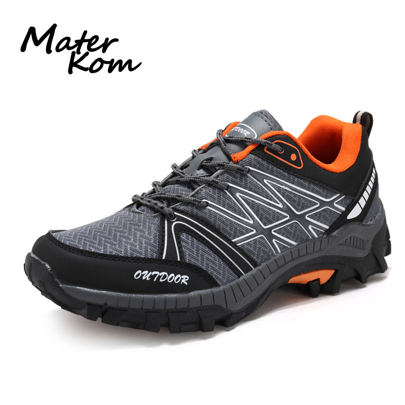 2019 Spring New Men Hiking Shoes Breathable Mesh Upper Trekking Shoes Outdoor Sport Shoes Professional Climbing Woodland Shoes