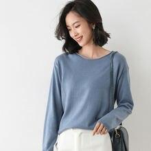 Зимний свитер 2020 женский свободный в Корейском стиле с круглым