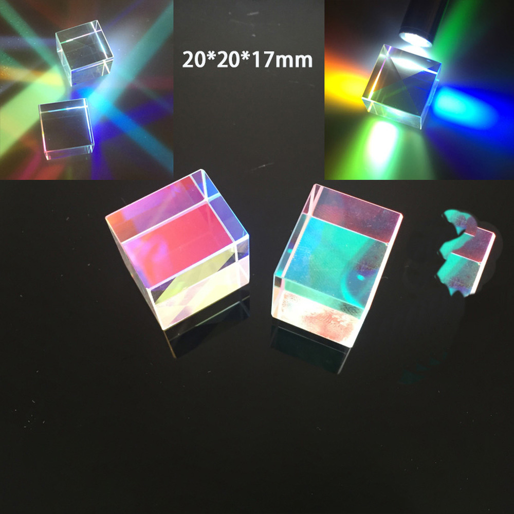 1pcs 20*20*17mm Creative Photography Of Rainbow Glass With Light Cube Colour Splitting Prism