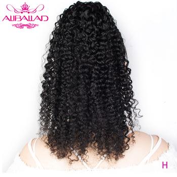 Aliballad perwersyjne kręcone sznurkiem kucyk ludzki włos brazylijski Afro dopinki na klips dla czarnych kobiet nie Remy 2 grzebienie tanie i dobre opinie Nie remy włosy 100 g sztuka Ciemniejszy kolor tylko Clip-in Pure color Brazylijski włosy