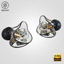 BGVP auriculares intrauditivos de armadura equilibrada DM7 6BA, Monitor de alta fidelidad de Metal con Cable desmontable MMCX y tres boquillas DMG DM6