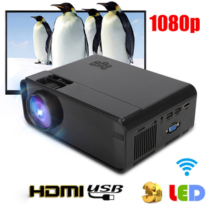 Image 2 - Portable WiFi Bluetooth LED Projector 1080P Home Theater Projector HDMI USB Home Cinema Projector Media Video Player 50 60W