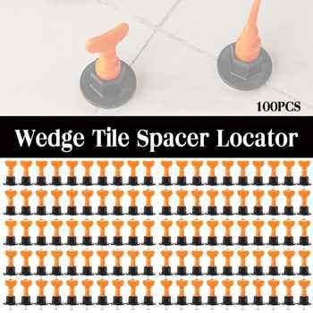 100Pcs/Set Ausrichtung Fliesen Nivellierung Keile Fliesen Spacer System Flache Keramik Leveler für Boden Wand Bau Werkzeuge Locator