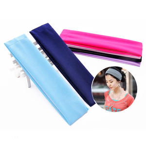 Women Fashion Headband Hair-Accessories Makeup Fitness Elastic Sports Wash Solid Stretch