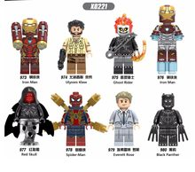 Legoed Cartoon Iron man Ghost rider Red skull Sprider-man Black Panther Building Blocks Figures Children Gift Toys(China)