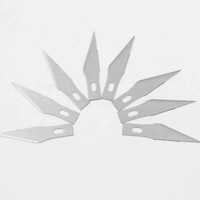 Cuchillas de cuchillo de Grabado de acero inoxidable, 5 uds. N. ° 11, cuchilla de Metal, cuchilla de Cuchilla de talla de madera de reemplazo, bisturí quirúrgico artesanal