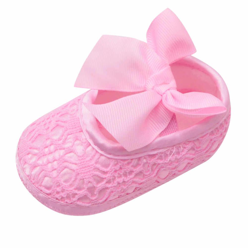 SAGACE buty dziecięce noworodek dziewczynki księżniczka dziewczynek buty Bowknot szopka antypoślizgowe obuwie tkanina miękka podeszwa buty pierwszego walkera