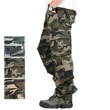 Hombre uniforme del ejército militar de camuflaje pantalones tácticos adiestramiento al aire libre Ropa de Trabajo adultos entrenamiento de las Fuerzas Especiales Pantalones