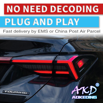 AKD tuning cars Tail lights For Toyota Avalon 2019 Taillights LED DRL Running lights Fog lights angel eyes Rear parking lights
