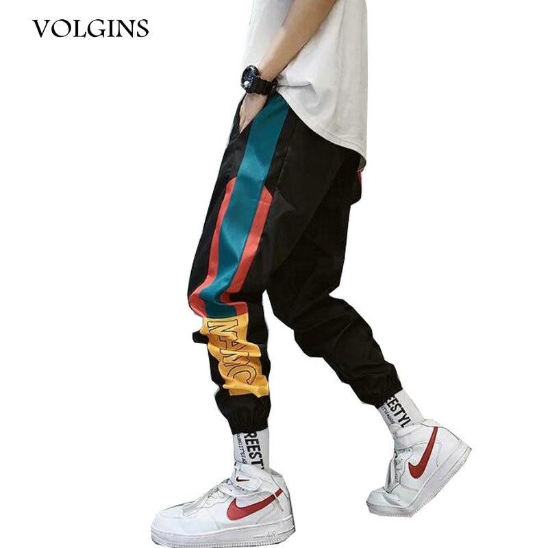 Streetwear Hip Hop Men's Splice Joggers Pants 2020 Men Sweatpants Ankle Length Loose Men Joggers Pants Track Harem Pants Men