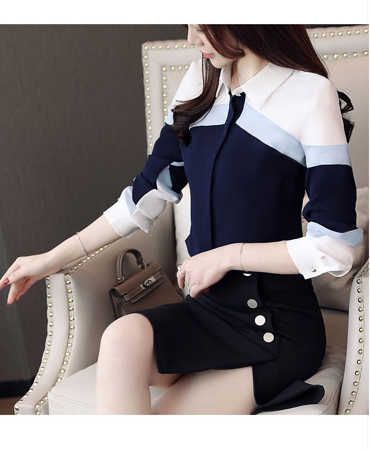 H1bc65208f9ff46ea8ccc8abe1c483f87t - womens tops and blouses chiffon blouse shirts women tops long sleeve ladies tops button spliced office lady plus size