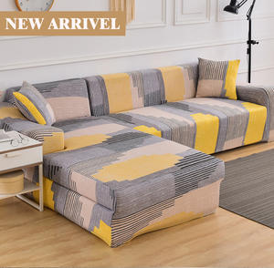 Sofa-Cover Chaise-Lounge Stretch L-Shaped Sectional Floral Living-Room Elastic Universal