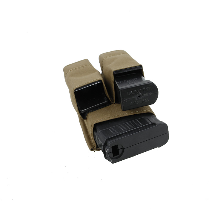 TMC Hardshell Insert Double Pistol & 5.56 Magazine Pouch Combo Molle Clip Ver.CB(SKU051339)