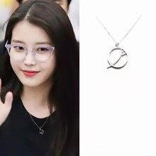UI stesso Del luna hotel dramma rotonda Lee Ji Eun luna di modo Della Collana dei monili della catena Regalo di Giorno di san valentino