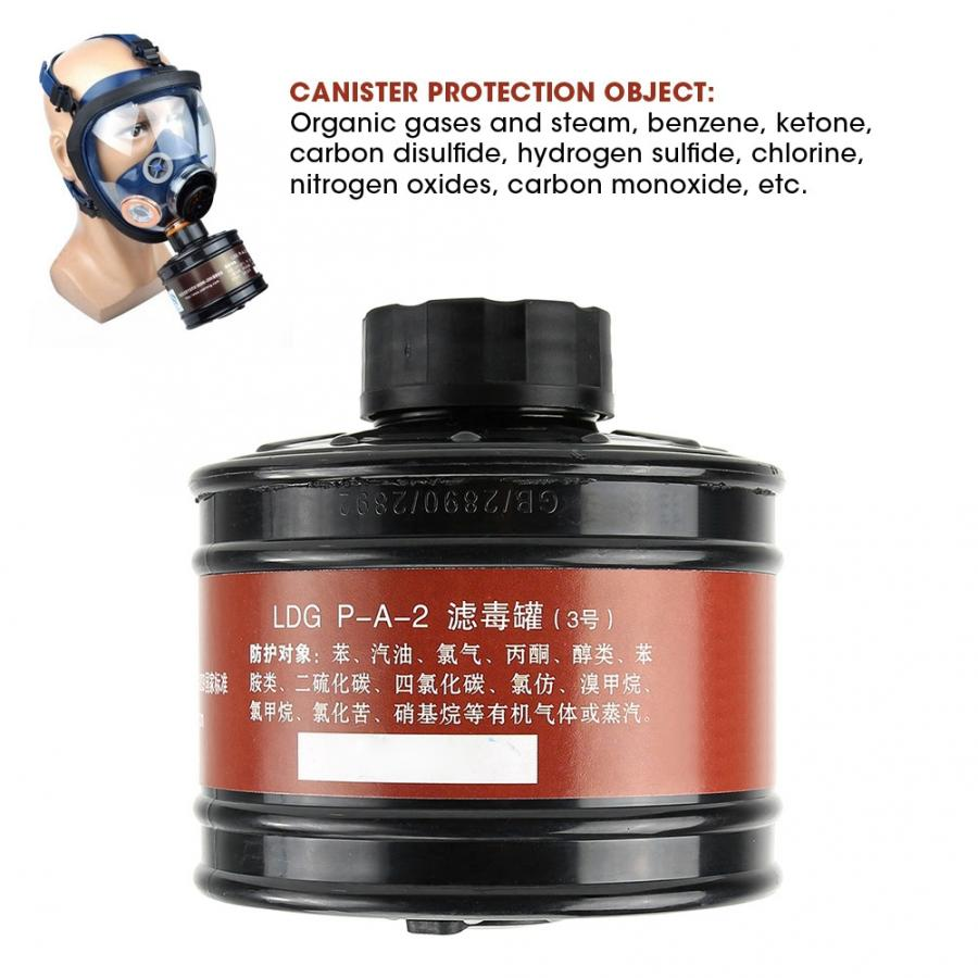 Image 5 - ABS Gas Mask Filter 40mm Respirator Canister Practical Replacement Accessory toz maskesiChemical Respirators   -