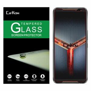 Image 1 - 2 قطعة cirkou ل Asus ROG الهاتف II 2 ZS660KL ROG2 2.5D 0.33 مللي متر 9H 100% الزجاج المقسى واقي للشاشة طبقة رقيقة واقية