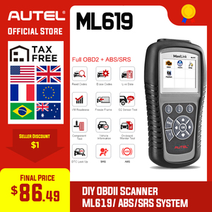 Image 1 - Autel MaxiLink ML619 сканер для диагностики авто автомобиля код ридер ABS SRS подушка безопасности OBD2 Автомобильный сканер Автоссылка AL619 бортовой компьютер