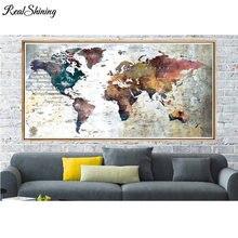5d мозаика абстрактная карта мира большая Алмазная вышивка diy