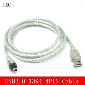 USB Male To Firewire IEEE 1394 4 Pin Male ILink Adapter Cord Firewire 1394 Cable For SONY DCR-TRV75E DV Camera Cable 120cm