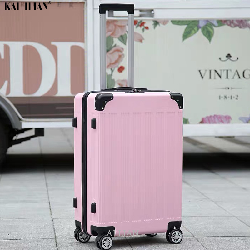 ABS Luggage Set 20'' Cabin Carry On Suitcase With Wheels 26 Inch Women Travel Trolley Rolling Luggage For Girls Student Big Bag