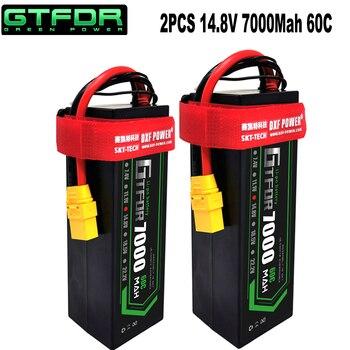 GTFDR Lipo 2S 4S Battery 7.4V 14.8V 5200mAh 6500mah 7000mAh 8000mAh 50C 60C 110C 100C 120C 220C Hard Case For Buggy Truggy Car gtfdr 2pcs 2s lipo battery 7 4v 7 6v hv 8400mah 7000mah 6200ma 5200mah 140c 280c 100c 200c 60c 120c 4mm for 1 8 1 10 road rc car